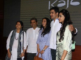 Celebs like Rekha Bhardwaj, Filmmaker Vishal Bhardwaj, actors Pakhi Tyrewala, Sunil Kumar Palwal, Pakhi Tyrewala and Salony Luthra spotted at Kajal short film screening.