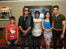 Actors Shakti Kapoor, Aksha Pardasany and Kashyap Barbhaya during the promotion of their upcoming film