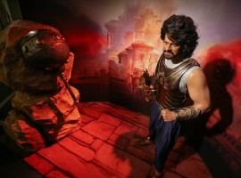 Wax statue of Prabhas as Baahubali at Madame Tussauds Bangkok.