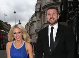 Dancer Kristina Rihanoff and Rugby player Ben Cohen attend Together for Short Lives Midsummer Ball at Banqueting House on June 7, 2017 in London, England.