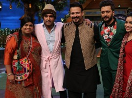 The Kapil Sharma Show episode with the cast of Bank Chor – Vivek Oberoi and Riteish Deshmukh. The cast came along with a vibrant energy on set and were seen having a lot of fun.