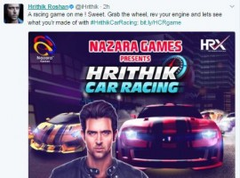 Hrithik Car Racing what it's titled is a real 3D racing game, which lets you drive insane high-speed cars. The actor's car action sequences in Dhoom 3 and Bang Bang have always been highly appreciated by the audiences and now the actor is here with another bang but this time in an all together different avatar. His animated game avatar, dressed in a black leather jacket looks as good and stylish as we have seen Hrithik always.