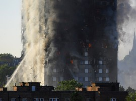 The firefighters were battling to rescue people trapped inside the tower block in west London, The Guardian reported. The fire in the 24-storey Grenfell Tower on Latimer Road near Notting Hill started in the early hours of Wednesday.