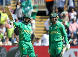 Chasing a below-par 212, the Green Brigade rode on a brilliant 118-run opening stand between Azhar Ali (76) and Fakhar Zaman (57) before Babar Azam (38 not out) and Ali helped the team with a 55-run second-wicket stand to set their date with the winner of the second semi-final between India and Bangladesh, on Sunday. After bowling the hosts out for 211, thanks to pacer Hasan Ali's 3/35, the Pakistani opening duo of Ali and Zaman made light work of the English bowlers as the visitors crossed the 50-run mark at the end of the mandatory powerplay. The 27-year-old Zaman was the more destructive of the two, bringing up his second consecutive fifty off 49 balls, laced with six boundaries and a six off a bouncer from pacer Mark Wood in the very first over of the innings.