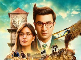 The poster is a compilation of graphic representation of the journey of Jagga Jasoos as he embarks on journey to find his missing father. Jagga's poster effectively showcases instances once were Jagga and Shruti are see on top of an airplane another over a wooden raft, another featuring the duo running over a train, one in a safari setup with Ranbir and Katrina aka Jagga and Shruti sitting over an ostrich while another gives a glimpse of a joyride with the duo sitting inside a car. Jagga Jasoos'  poster effectively encompasses the ups and downs and many adventurous moments that Jagga and Shruti indulge in. The poster also prominently features the characters of Jagga and Shruti against the backdrop of a clock tower which further adds and edge the story of Jagga Jasoos. Katrina also took to social media talking about the Journey saying, A hair-raising thrilling tale of adventure ... #JaggaJasoos