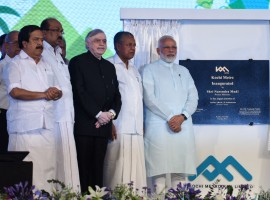 With Metro Man E. Sreedharan by his side, Modi also took a Metro ride after he cut the inaugural ribbon at the rail network's Palarivatom station. The Prime Minister addressed a gathering of thousands of his supporters, greeting them in Malayalam and referred to Kochi as the