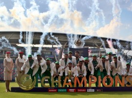The south Asian nation claimed their third ICC tournament, having earlier won the 50-over World Cup in 1992 and the World Twenty20 in 2009. Put in to bat, Pakistan rode on a century by opener Fakhar Zaman to post a massive total of 338/4 in the allotted 50 overs. In reply, India were all out for 158 runs in 30.3 overs. For Pakistan, pacers Mohammad Amir and Hasan Ali bagged three wickets each. This was the biggest margin of victory in any ICC ODI tournament in terms of runs. The previous highest was registered by Australia when they thrashed India by 125 runs in the 2003 World Cup final in Johannesburg.  Pakistan pacer Hasan Ali finished as the highest wicket-taker of the tournament with 13 scalps. The right-armer was also adjudged as the player of the tournament. Ali is also the first bowler to take four successive three-wicket hauls in the Champions Trophy. All-rounder Hardik Pandya was the highest scorer among the Indians with 76 runs from 43 balls.