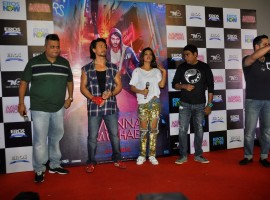 Actors Tiger Shroff, Nidhhi Agerwal, film director Sabbir Khan and film producer Vikram Rajani during the song launch of their upcoming film