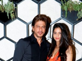 Shah Rukh Khan arrives with daughter Suhana for opening of restaurant designed by Gauri Khan in Mumbai.