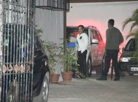 Bollywood actor Salman Khan with Family at Sister Alvira Agnihotri's House in Mumbai.