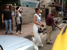 Bollywood actress Ileana D'Cruz spotted at Indigo Cafe at Bandra.