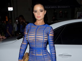 Demi Rose Mawby arriving at Sixty6 magazine launch party on June 21, 2017 in London, England.