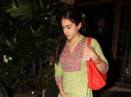 Bollywood actor Saif Ali Khan's daughter Sara Ali Khan spotted at Bandra.