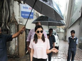 Bollywood actress Alia Bhatt spotted at Vishesh Films in Khar.