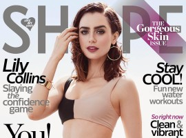 American Actress Lily Collins goes bold for Shape Magazine.