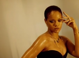 Actress Rihanna looks dreamy while unveiling the new collection for Chopard.