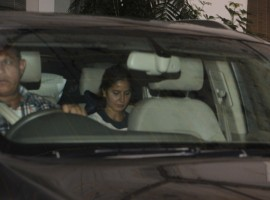 Bollywood actress Katrina Kaif spotted at Recording Studio in Juhu.