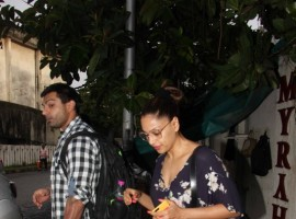 Karan Singh Grover & Bipasha Basu snapped post their spa session in Juhu, Mumbai.