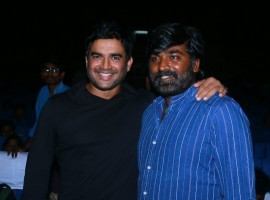 Vijay Sethupathi and Madhavan at Vikram Vedha Press Meet.