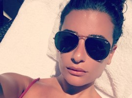 Actress Lea Michele flaunts off her envy-inducing figure.