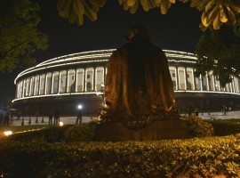 It is not often that you see so much activity outside Parliament House at around 9 p.m, but Friday was special as the temple of Indian democracy eagerly awaited another