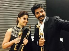Velaikkaran pair Sivakarthikeyan and Nayanthara at SIIMA awards 2017.