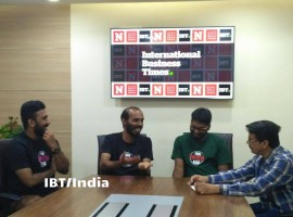 Actor-Director Raj Shetty, Producer Sivan Prasad and Music Director Midhun Mukundhan in conversation with Prakash Upadhyaya, Senior Correspondent, International Business Times, India