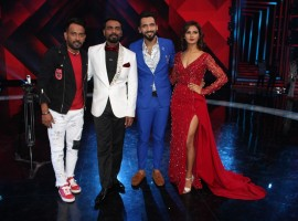 Choreographers and judges Remo D'souza, Shakti Mohan, Dharmesh Yelande and Punit Pathak on the sets of television show