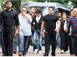 Bollywood actor Salman Khan kick starts shooting for Aanand L Rai's next with Shah Rukh Khan.
