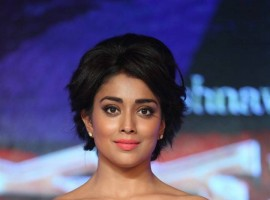 South Indian Actress Shriya Saran at Nakshatram audio launch.