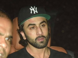Ranbir Kapoor spotted during the special screening of film