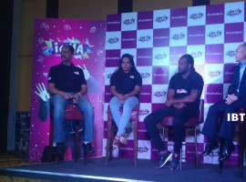 Jamaican cricketer Chris Gayle at an event in Bengaluru.