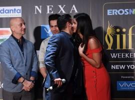 Bollywood superstar Salman Khan sprang a surprise for Katrina Kaif when he sang the