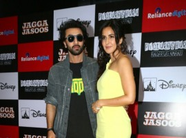 Bollywood actors Ranbir Kapoor and Katrina Kaif promote their forthcoming movie 'Jagga Jasoos' at Reliance Digital store.