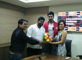 Director Suni, Manish Rishi, Shraddha Srinath promote their upcoming movie Operation Alamelamma in Bangalore.