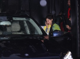Jhanvi Kapoor spotted at Tip Toe salon, Juhu in Mumbai.