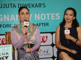 Bollywood actress Kareena Kapoor launches Rujuta Diwekar's book Pregnancy Notes.