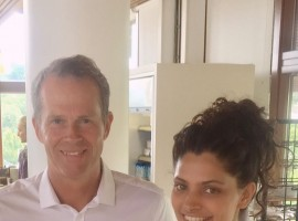 Saiyami Kher with Stepfan Edburg.