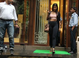 Bollywood actress Pooja Hegde spotted at Bandra with family.