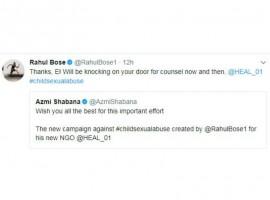 Shabana Azmi tweeted expressing her wishes,