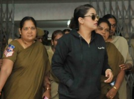 Actress Mumaith Khan on Thursday appeared before the Special Investigation Team (SIT) of Telangana's Excise Department probing the Hyderabad drug racket. A four-member team of officials began questioning the actress at Abkari Bhavan, the office of Prohibition and Excise Department, around 10 a.m. She was being questioned on whether she takes drugs and whether she has any links with Calvin Mascrenhas, the alleged kingpin of the racket. Mumaith reached Hyderabad from Mumbai after she got permission to leave 'Big Boss' for one day.