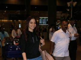 South Indian actress Tamannaah Bhatia spotted at airport.