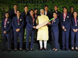 Modi tweeted: Had a wonderful interaction with the Indian cricket team that took part in the women's cricket world cup. @BCCIWomen