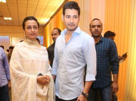 Mahesh Babu with his wife Namrata at Shyam Prasad Reddy daughter Maithri wedding.