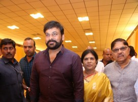 Megastar Chiranjeevi at Shyam Prasad Reddy daughter Maithri wedding.