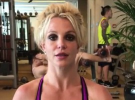Britney Spears posts workout image on Instagram.