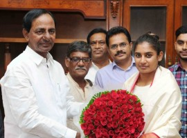 Telangana Chief Minister K Chandrasekhar Rao on Friday announced cash prize of Rs 1 crore for Indian women cricket team captain Mithali Raj. He also announced that a 600 square yard house plot would also given to her in posh Banjara Hills area of the city.
