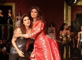 India Couture Week 2017: Shilpa Shetty walks the ramp as Monisha Jaising's showstopper on day five.