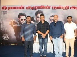Tamil movie Nibunan success meet held at Chennai. Celebs like Actor Arjun Sarja, Director Arun Vaidyanathan and others graced the event.