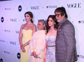 Shweta Nanda spotted at Vogue Beauty Awards 2017.